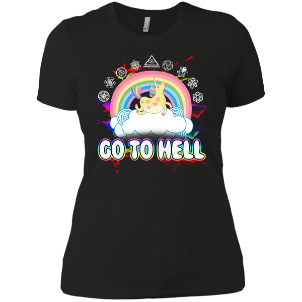 Go To Hell Ladies' Boyfriend Tee