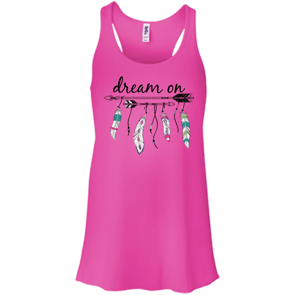 Dream On Flowy Racerback Tank