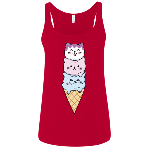 Cat Cream Cone Women's Relaxed Jersey Tank