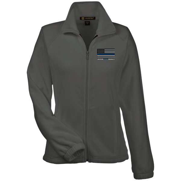 Honor Respect Blue Line Women's Fleece Jacket