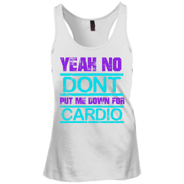 Yea No Cardio Juniors Racerback Tank Top