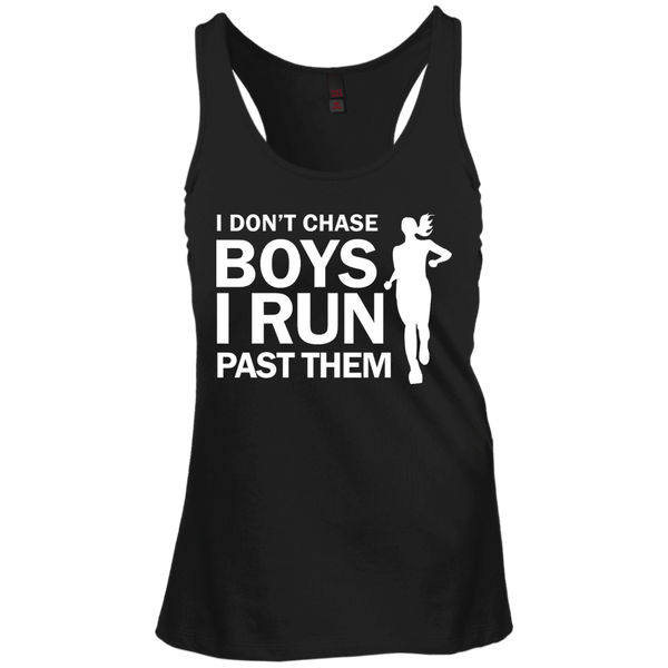 I Don't Chase Boys Juniors Racerback Tank Top