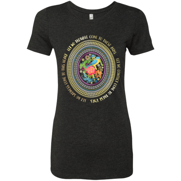 Hamsa Prayer Ladies Triblend T-Shirt