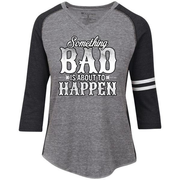 Something Bad Ladies' Vintage V-neck Shirt