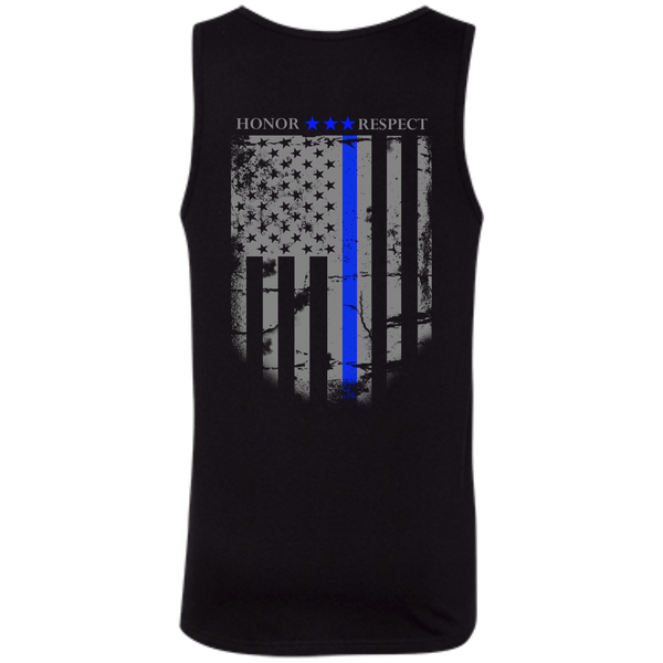 Blue Line Honor Mens Tank Top