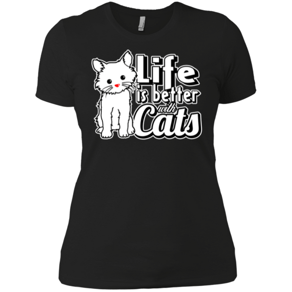 Life is Better with Cats Boyfriend Tee