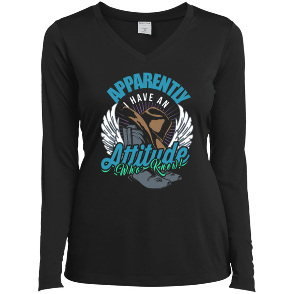 Country Attitude Ladies LS Vneck Tee