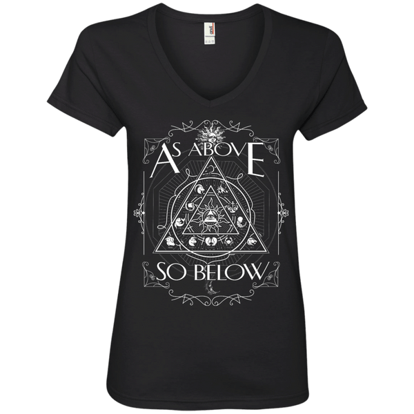 As Above So Below Ladies' V-Neck Tee