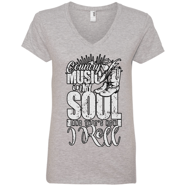 Country Music Soul Ladies' V-Neck Tee