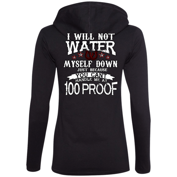 100 Proof Ladies Hoodie