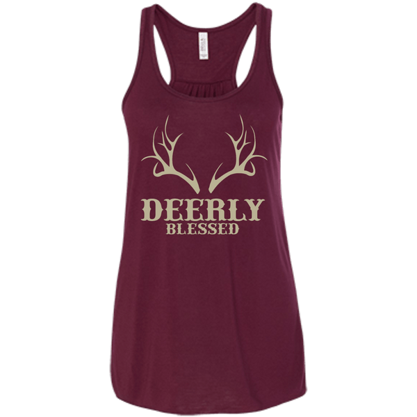 Deerly Blessed Flowy Racerback Tank
