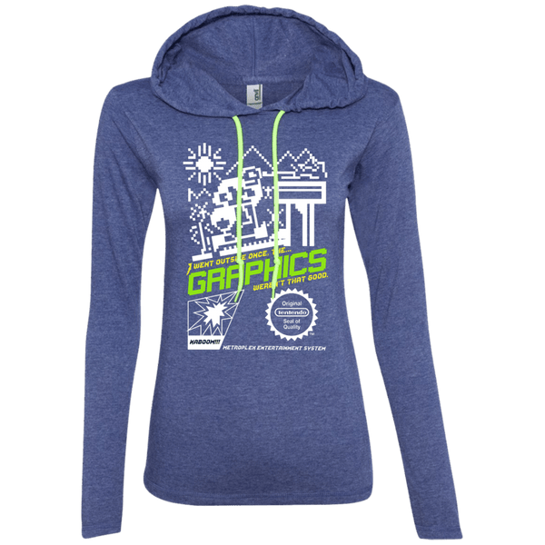I Went Outside Once Juniors LS T-Shirt Hoodie