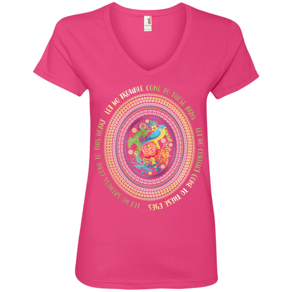 Hamsa Prayer Ladies' V-Neck Tee