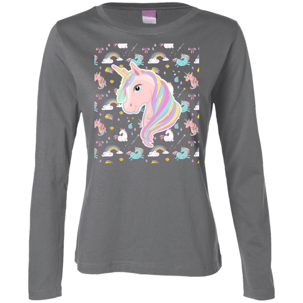 Unicorn Fantasy Ladies Long Sleeve TShirt