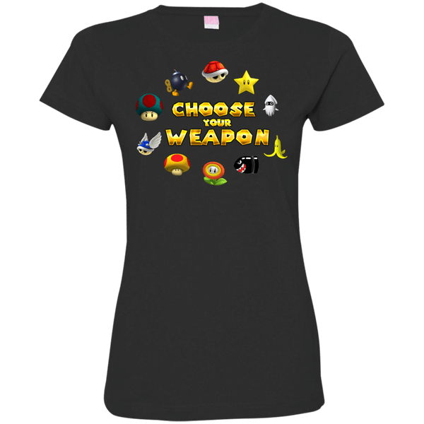 Choose Your Weapon Ladies T-Shirt