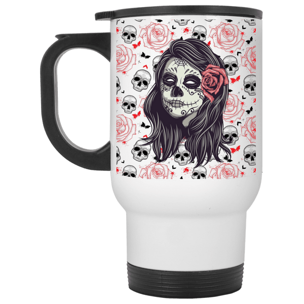 Sugar Rose Travel Mug