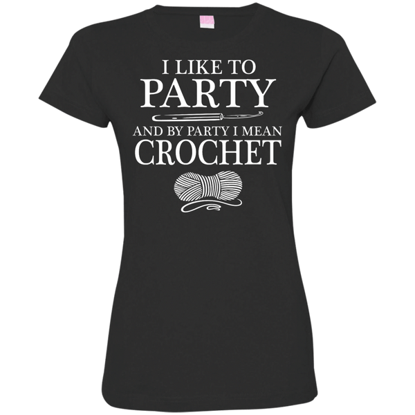 I Like to Party Crochet Womens Tshirt