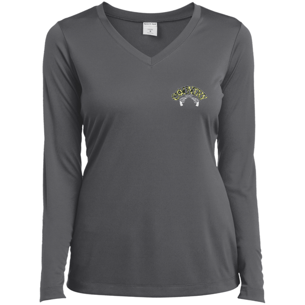 Country Chick Ladies LS Vneck Tee
