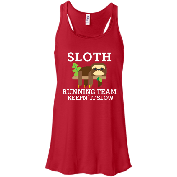 Sloth Running Team Flowy Racerback Tank