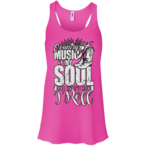 Country Music Flowy Racerback Tank