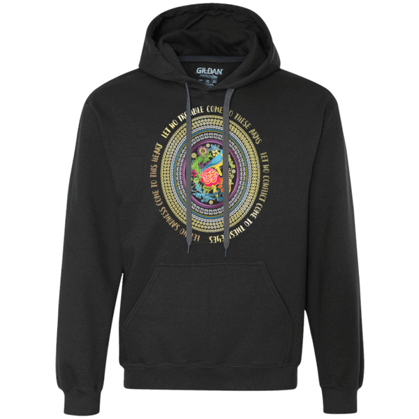 Hamsa Prayer Heavyweight Pullover Hoodie