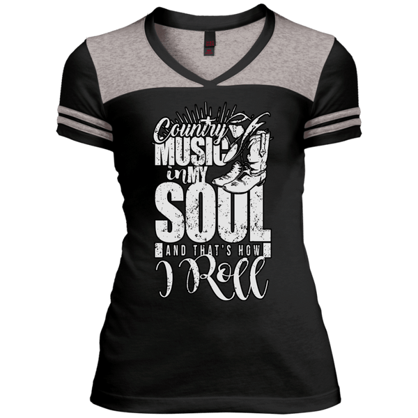 Country Music Soul Juniors Varsity V-Neck Tee