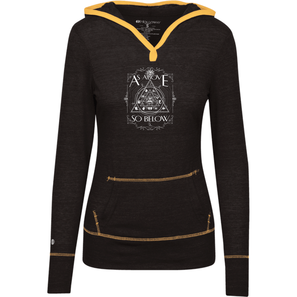 As Above So Below Juniors Light T-Shirt Hoodie