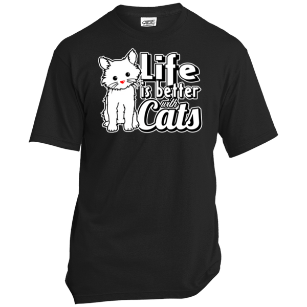 Life is Better with Cats Men's T-Shirt