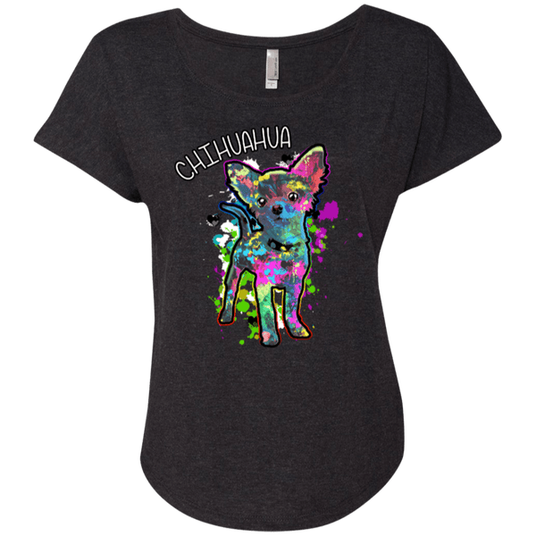 Chihuahua Art Ladies Dolman Sleeve
