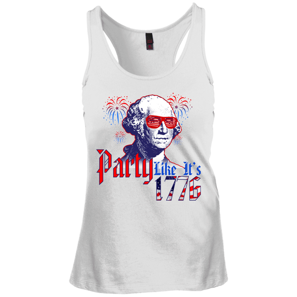 Party Like Its 1776 Juniors Racerback Tank Top