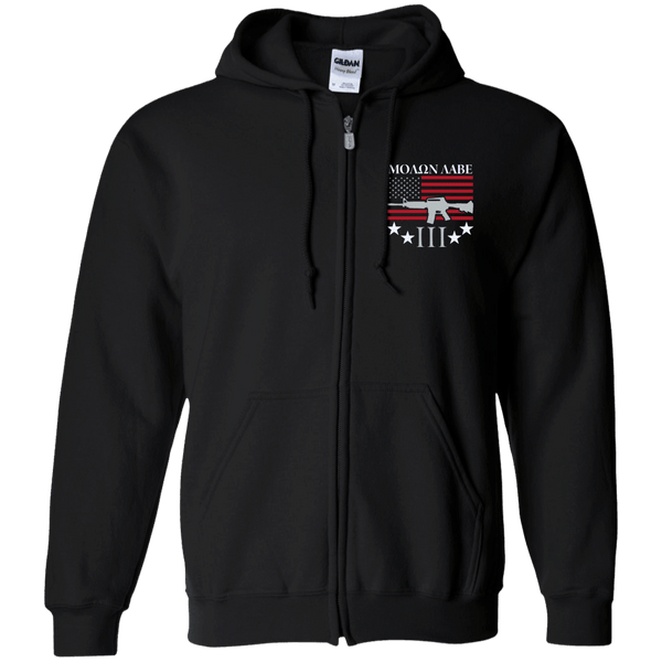 Molan Labe Zip Up Hooded Sweatshirt