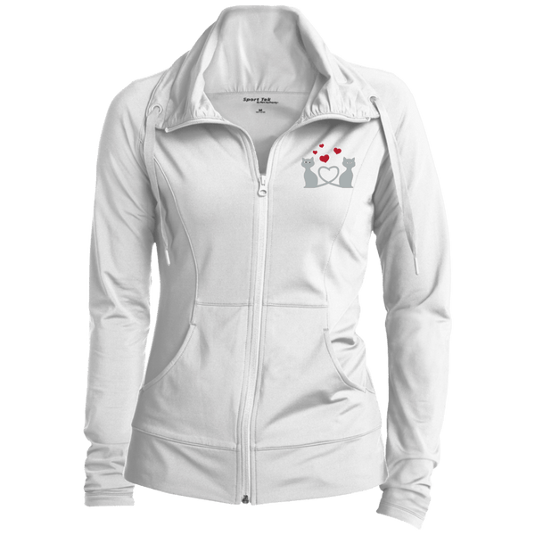 Kitty Love Womens Stretch Full-Zip Jacket