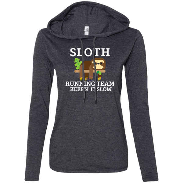 Sloth Running Team Juniors LS T-Shirt Hoodie