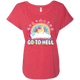 Go To Hell Ladies Dolman Sleeve