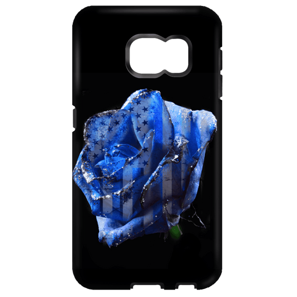 Blue Line Rose Phone Case