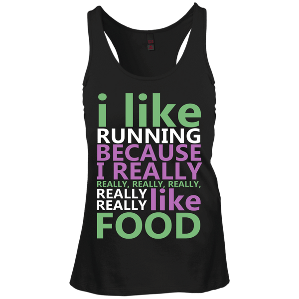 I Like Running Juniors Racerback Tank Top