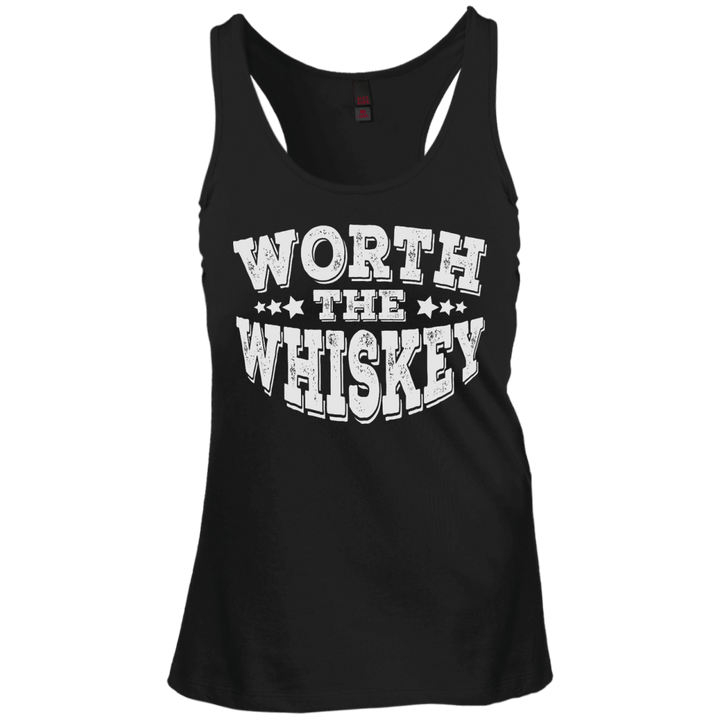 Worth The Whiskey Juniors Create Your Own Racerback Tank Top