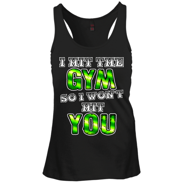 I Hit The Gym Juniors Racerback Tank