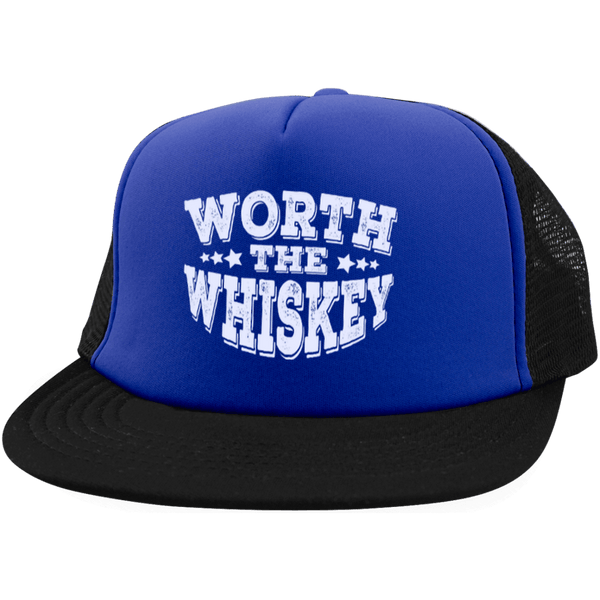 Worth The Whiskey Trucker Hat with Snapback