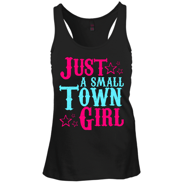 Just A Small Town Girl Juniors Racerback Tank