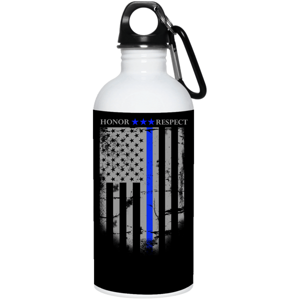 Blue Line Flag Stainless Water Bottle