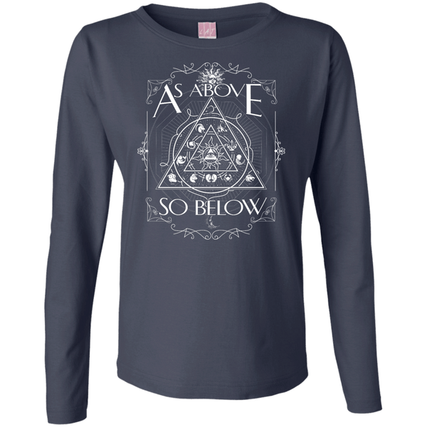 As Above So Below Ladies LS Cotton TShirt