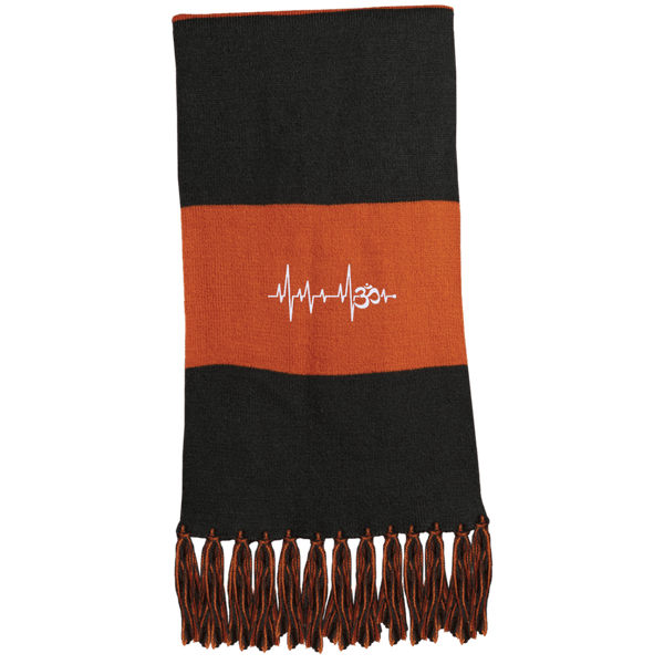 Om Heartbeat Fringed Scarf
