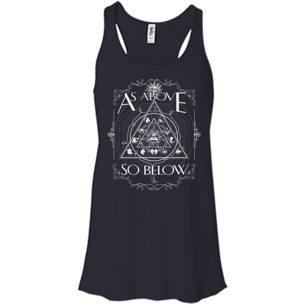 As Above So Below Flowy Racerback Tank