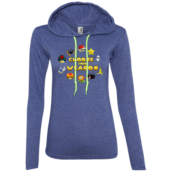 Choose Your Weapon Kart Juniors LS T-Shirt Hoodie