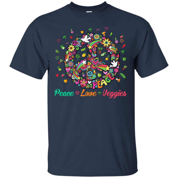 Peace Love Veggies Mens Tshirt