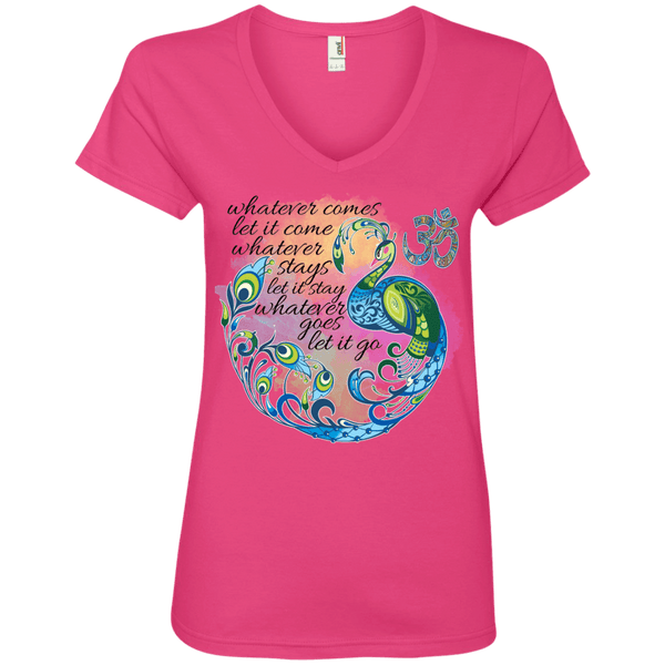 Whatever Comes Ladies' V-Neck Tee