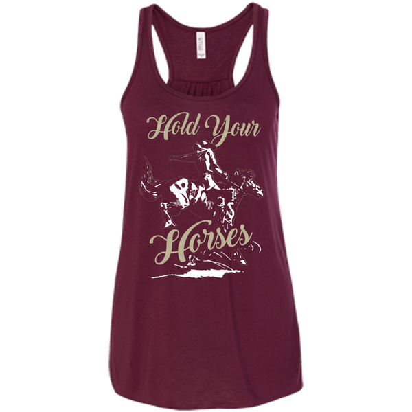 Hold Your Horses Flowy Racerback Tank