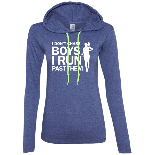 I Don't Chase Boys Juniors LS T-Shirt Hoodie