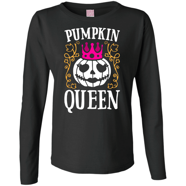 Pumpkin Queen Ladies Long Sleeve TShirt